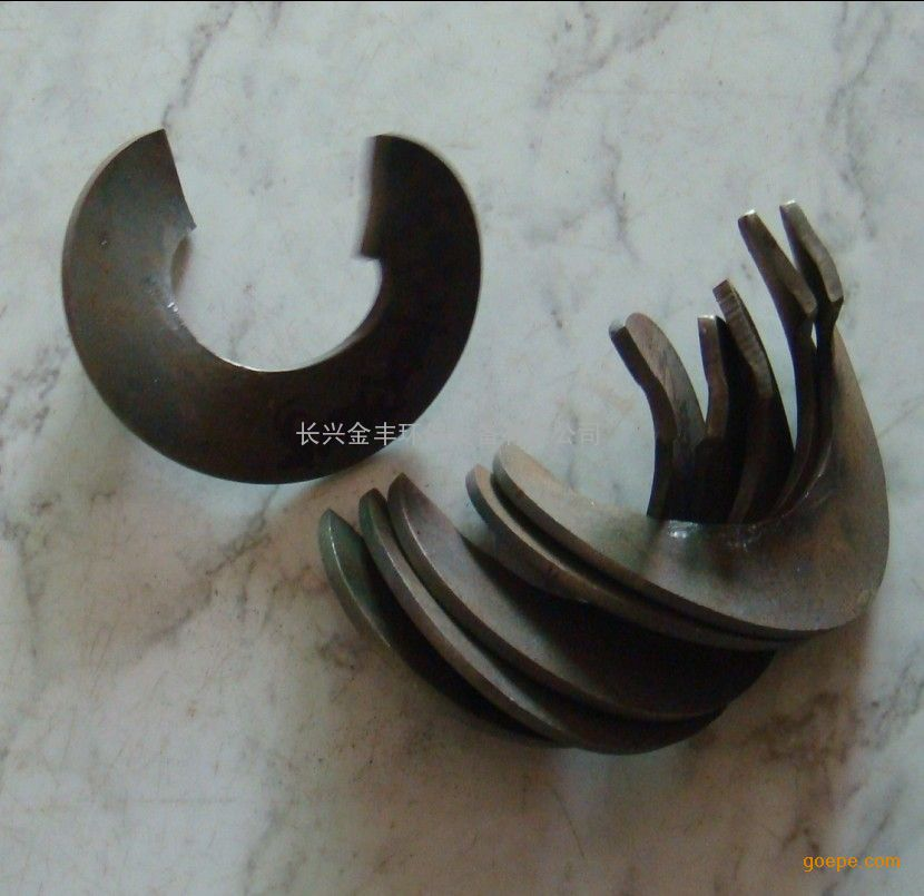 供应金丰按要求定制 碳钢 不锈钢 绞龙螺旋叶片图片