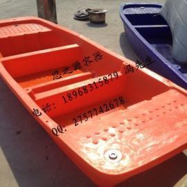 4米塑料渔船 4米捕鱼船 4米塑胶手划船