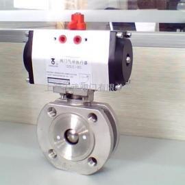 气动超薄球阀 Q672F气动对夹超薄型球阀 铸钢 不锈钢