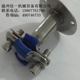 温州厂家直销衬橡胶不锈钢管支架(不锈钢管子夹带橡胶)