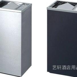 采购方形不锈钢垃圾桶价格▲酒店走廊钛金烟灰桶供应厂家