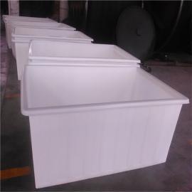 供应PE塑料方形桶,杭州印染500L方形周转桶