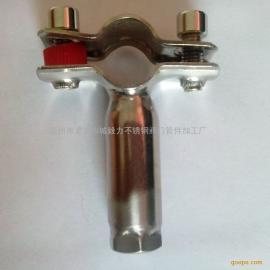 不锈钢管道支撑件 M10内螺纹可调管支架