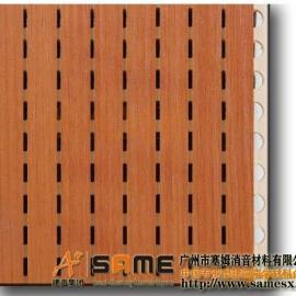 四川会议室阻燃槽木吸音板
