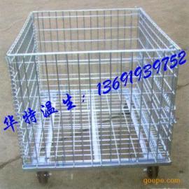 珠江仓储周转铁笼 民众标准网格仓储铁笼 金沙物流储存铁笼