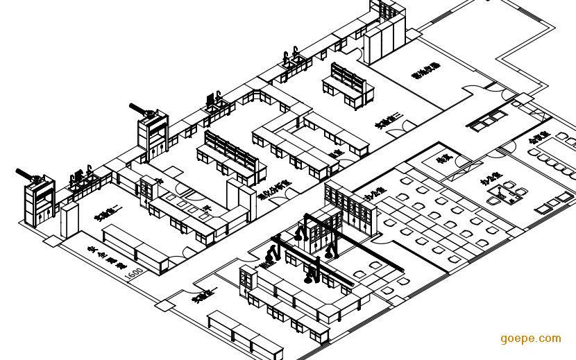 实验室设计 生物科技公司设计图纸