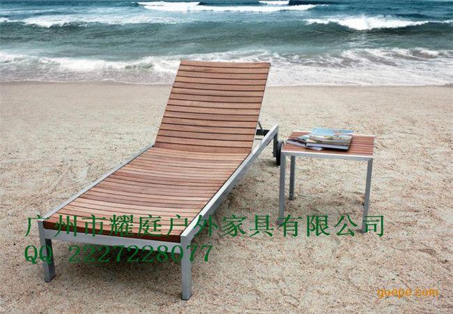 阳台躺椅,实木躺椅,防腐木沙滩椅