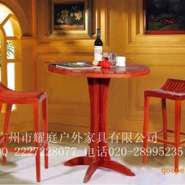 酒吧吧台,实木吧椅,户外木制吧椅,防腐,防晒