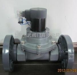PVC电磁阀 氯乙烯UPVC塑料电磁阀 法兰电磁阀