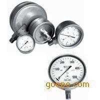 北京布莱迪YE-100H不锈钢膜盒压力表|316不锈钢