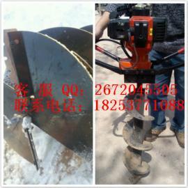 汽油挖坑 手提挖坑机 挖坑机视频-汇达机械Z3