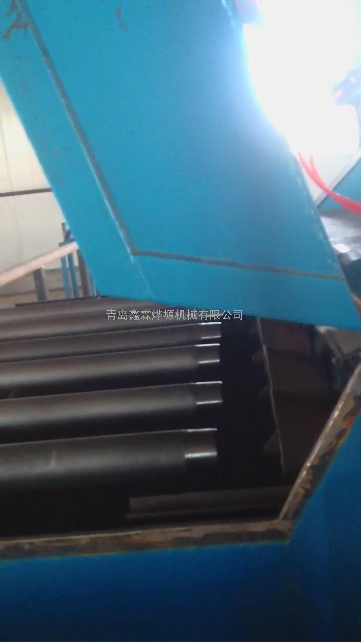 油田抽油杆喷砂清理机,油管内壁喷丸除锈机 管道内外壁抛丸机