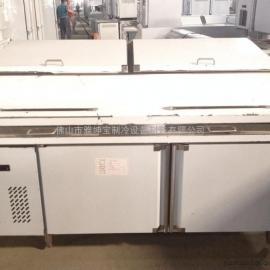 尊宝比萨保鲜操作台 带盖冷藏柜 商用冷柜质保时间