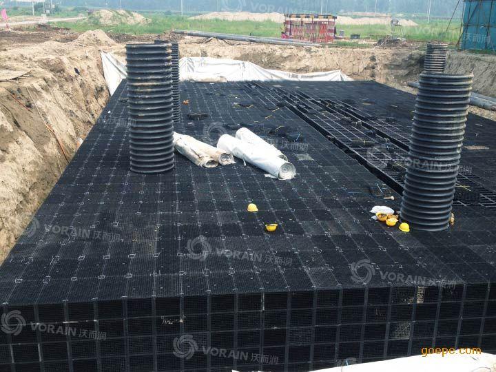 飞机场雨水回用系统组合式雨水收集模块蓄水池首选vo
