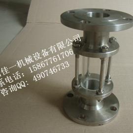 温州供应不锈钢玻璃管视盅(法兰直通式玻璃管视镜)