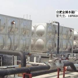 宁国不锈钢膨胀消防水箱,圆柱形水箱厂