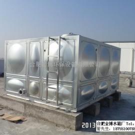 肥西不锈钢圆柱形水箱消防保温水箱