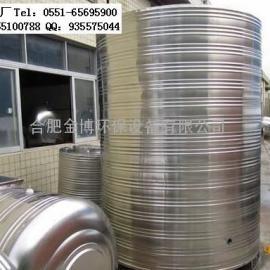 肥东304不锈钢消防水箱圆柱形保温水箱选金博