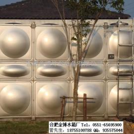 合肥不锈钢圆柱形水箱玻璃钢膨胀水箱消防保温水箱金博水箱