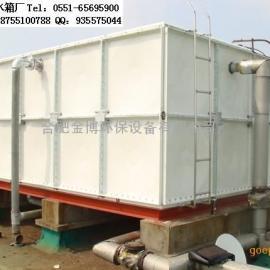 桐城玻璃钢消防水箱,圆柱形水箱,金博不锈钢消防水箱厂