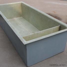 玻璃钢废水槽,玻璃钢水槽,玻璃钢防腐槽