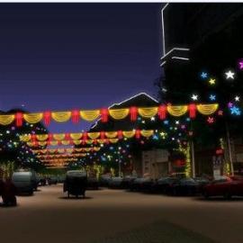 深圳厂家 5V/12V LED双向高杆装饰灯串 红 绿 蓝 黄 白 单色可选