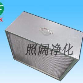 带把手有隔板高效空气过滤器镀锌框铝合金外框材质
