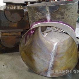 不锈钢焊接大三通 DN800*8 可提供焊缝检测报告