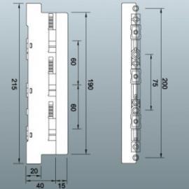 雷普SU3-A母线座 800安培3级母线座带侧板