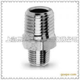 双外螺纹直通接头 全铜  螺纹R1/4 KRN02-02