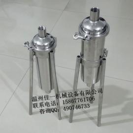 温州供应304不锈钢直通管道过滤器(带可活动固定支架)
