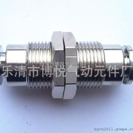 【厂家直销】金属快插接头/隔板直通接头PM10 两头都插10MM气管