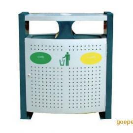 厂家直供HC2226钢板垃圾桶 果壳箱  钢制冲孔垃圾箱