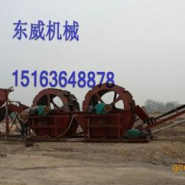 湖北沙石料厂碎石尾料石粉洗沙机,轮式石粉洗沙机
