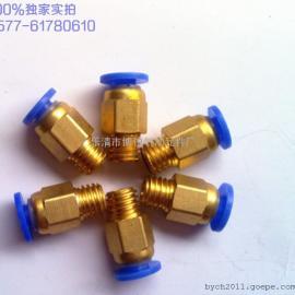 气动快插接头 公制螺纹接头/粗牙接头 直通PC4-M8*1.25