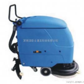 洗地机|河南新乡手推式电瓶洗地机|沃尔玛超市用全自动洗地机