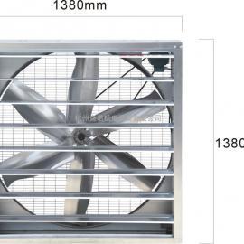 生产供应1530型方型百叶窗粉尘烟雾降温换气负压风机