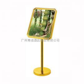斜面直立式不锈钢水牌 广州金色水牌深圳展示牌 公司告示牌大