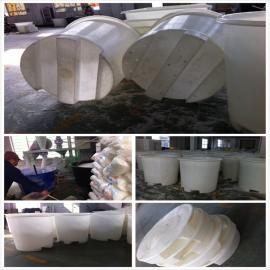 滚塑制品厂家供应M-1000L塑料叉车腌制圆桶,滚塑铲车桶