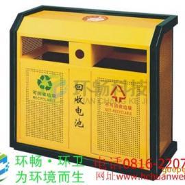 厂家供应HC2221钢板冲孔户外垃圾桶 金属垃圾桶