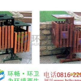 供应青海地区木条垃圾桶 小区垃圾桶 公园垃圾桶
