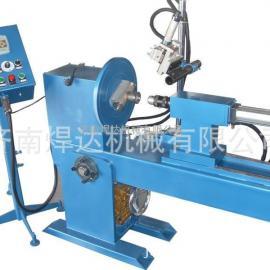 济南焊达独家设计自带超大通孔焊接翻转台,管法兰焊接伴侣变位机