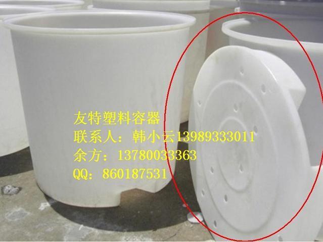 热销PE叉车桶,底部可插染色桶,深圳滚塑1500升插式圆桶