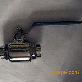 温州毅力不锈钢卫生级 手动直通焊接球阀
