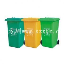 深圳玻璃钢垃圾桶|模压垃圾桶|户外三分类垃圾桶