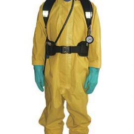 轻型防化服、外置空气呼吸器、防毒面具二级防化服