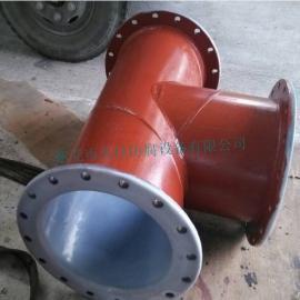 衬塑三通管道管件批发加工   广东、海南钢衬塑管件