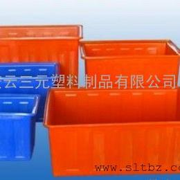 塑料水箱 PE方箱 300升印染桶 耐酸碱牛筋桶水产养殖箱