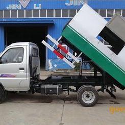 物业小区垃圾收集车小型车厢可卸垃圾车不锈钢材质5.8万