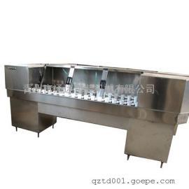 9 CP-2单排间歇式冲瓶机 半自动洗瓶机 残留水少